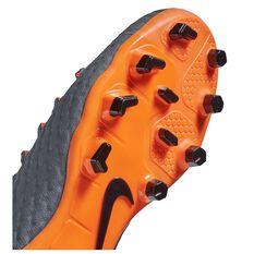 Nike Hypervenom Phantom III Academy Junior Football Boots Grey / Orange US 1, Grey / Orange, rebel_hi-res