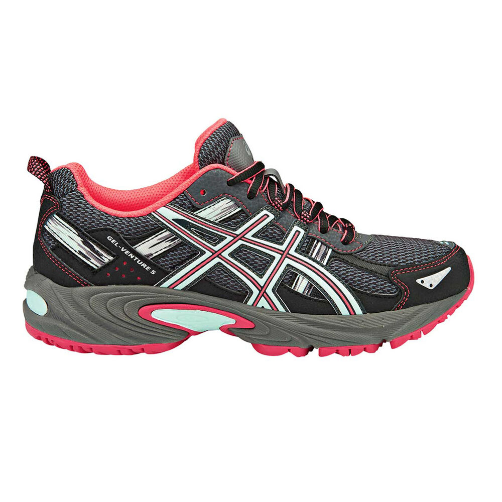 bc4b650b3731 Asics Gel Venture 5 Womens Trail Running Shoes Charcoal / Pink US 6.5,  Charcoal /
