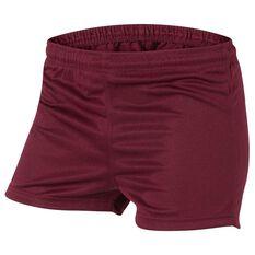 Burley Mens Football Shorts Maroon 10, Maroon, rebel_hi-res