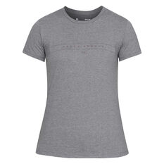 Under Armour Womens Graphic WM Classic Tee Grey XS, Grey, rebel_hi-res