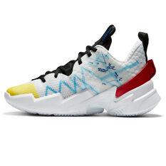 Nike Air Jordan Why Not Zer0.3 SE Kids Basketball Shoes White/Blue US 4, White/Blue, rebel_hi-res