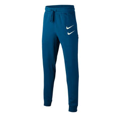 Nike Boys Sportswear Swoosh French Terry Track Pants Blue XS, Blue, rebel_hi-res