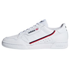 adidas Originals Continental 80 Casual Shoes White/Red US 4, White/Red, rebel_hi-res