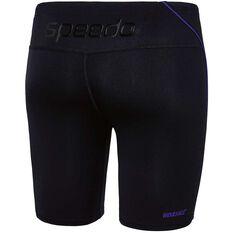 Speedo Mens Endurance Logo Waterboy Swim Shorts Black / Purple 14, Black / Purple, rebel_hi-res