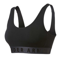 Under Armour Womens Cotton Everyday Black Sports Bra Black XS, Black, rebel_hi-res