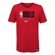 Nike Chicago Bulls 2019/20 Kids Practice Tee 2019 Red S, Red, rebel_hi-res