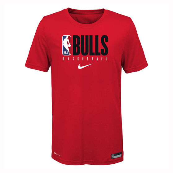 Nike Chicago Bulls 2019/20 Kids Practice Tee 2019, Red, rebel_hi-res