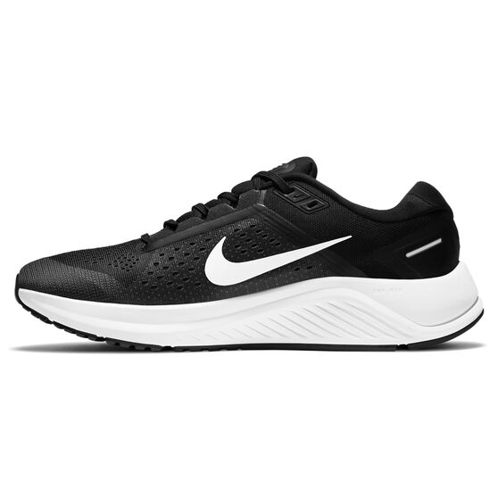 Nike Air Zoom Structure 23 Mens Running Shoes, Black/White, rebel_hi-res