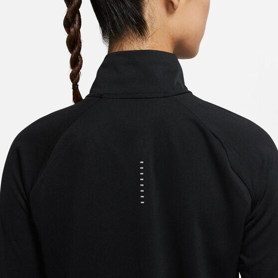 Nike Womens Swoosh Run Running Top, Black, rebel_hi-res