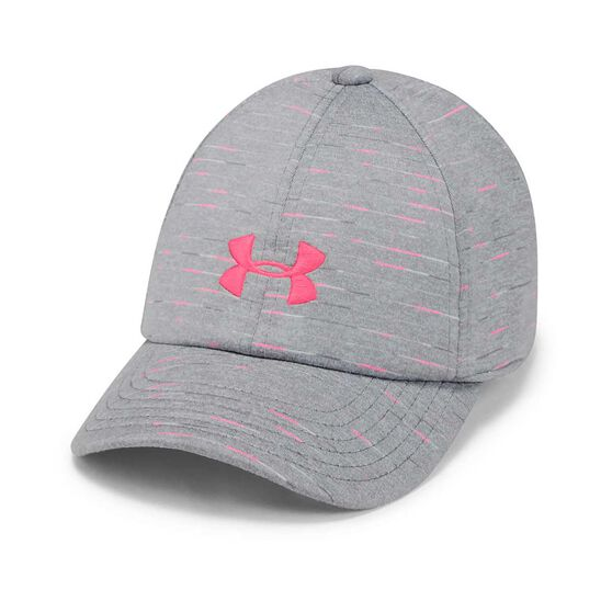 Under Armour Girls Space Dye Renegade Cap Grey / Pink OSFA, Grey / Pink, rebel_hi-res