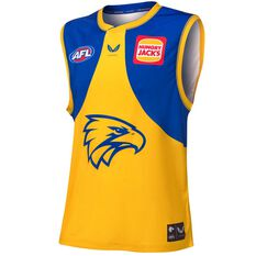 West Coast Eagles 2021 Mens Away Guernsey Yellow S, Yellow, rebel_hi-res