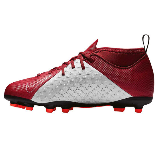 Nike Phantom Vision Club Junior Football Boots Red / Grey US 2, Red / Grey, rebel_hi-res