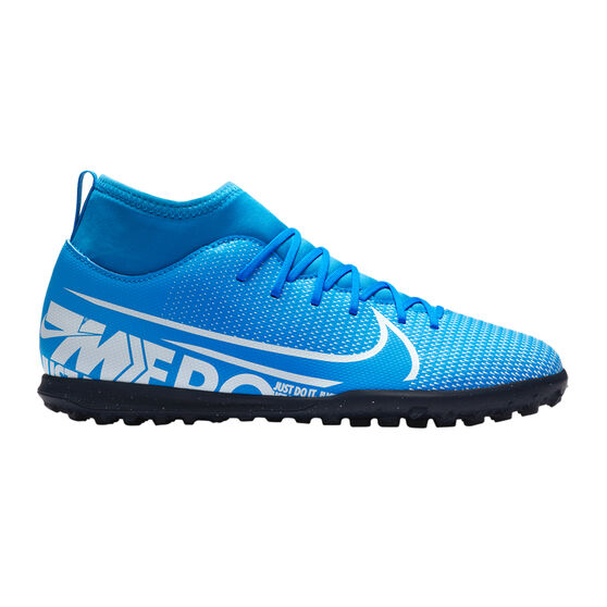Nike Mercurial Superfly VII Club Kids Touch and Turf Shoes, Blue / White, rebel_hi-res