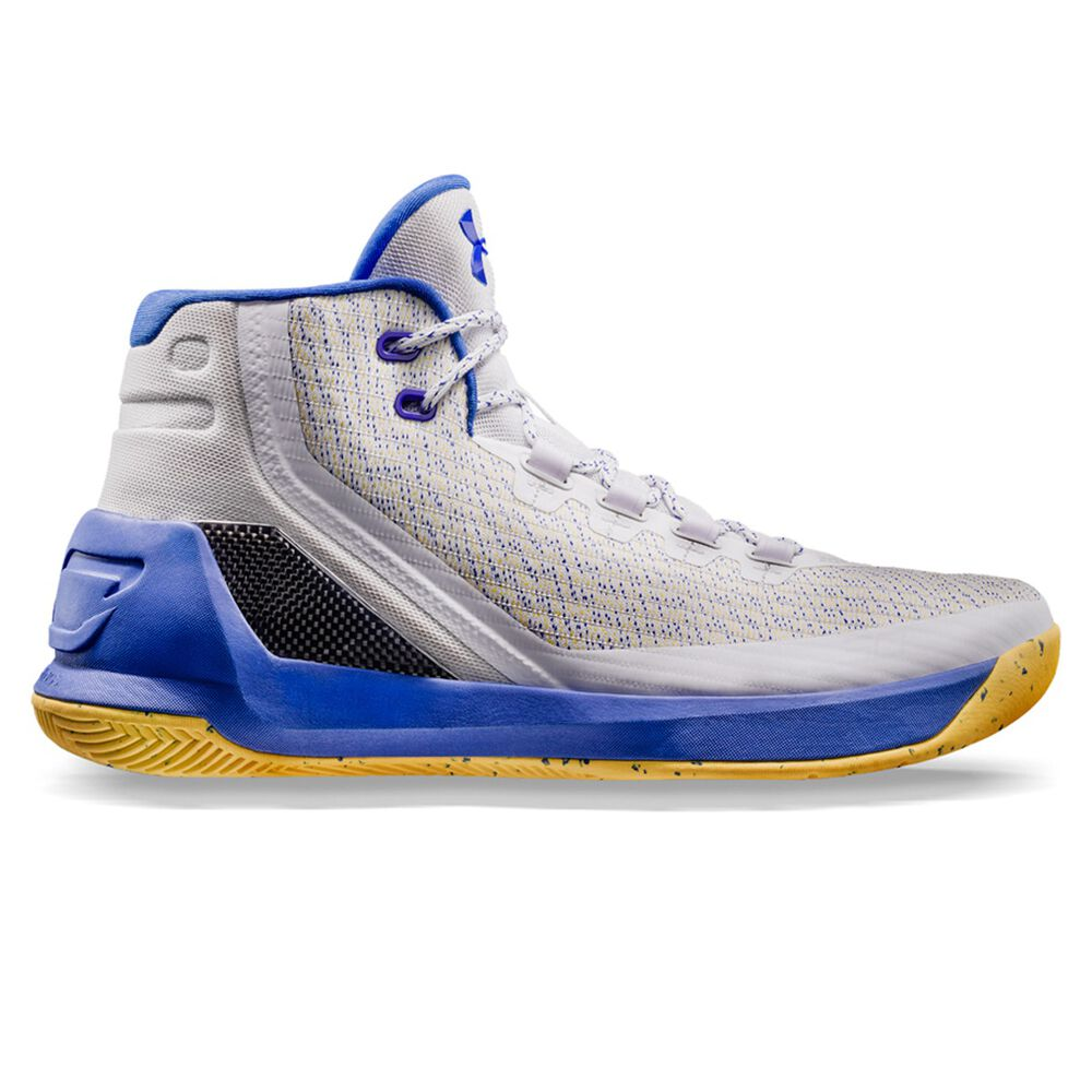Under Armour Curry 3 Mens Basketball Shoes White   Blue US 11 ... 9c7076169