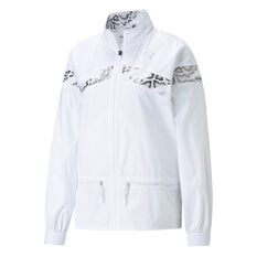Puma Womens Untamed Woven Training Jacket White XS, White, rebel_hi-res