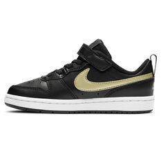 Nike Court Borough Low 2 Kids Casual Shoes Black US 11, Black, rebel_hi-res