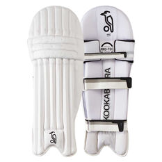 Kookaburra Ghost Pro 1500 Junior Cricket Pads White / Silver Youth Right Hand, White / Silver, rebel_hi-res