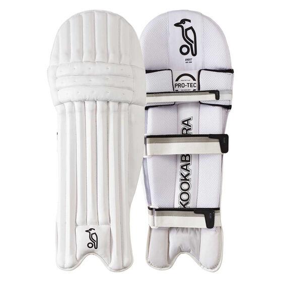 Kookaburra Ghost Pro 1500 Junior Cricket Pads, White / Silver, rebel_hi-res