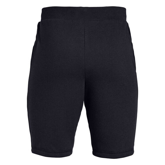 Under Armour Boys Rival Terry Shorts Black / Brown S, Black / Brown, rebel_hi-res