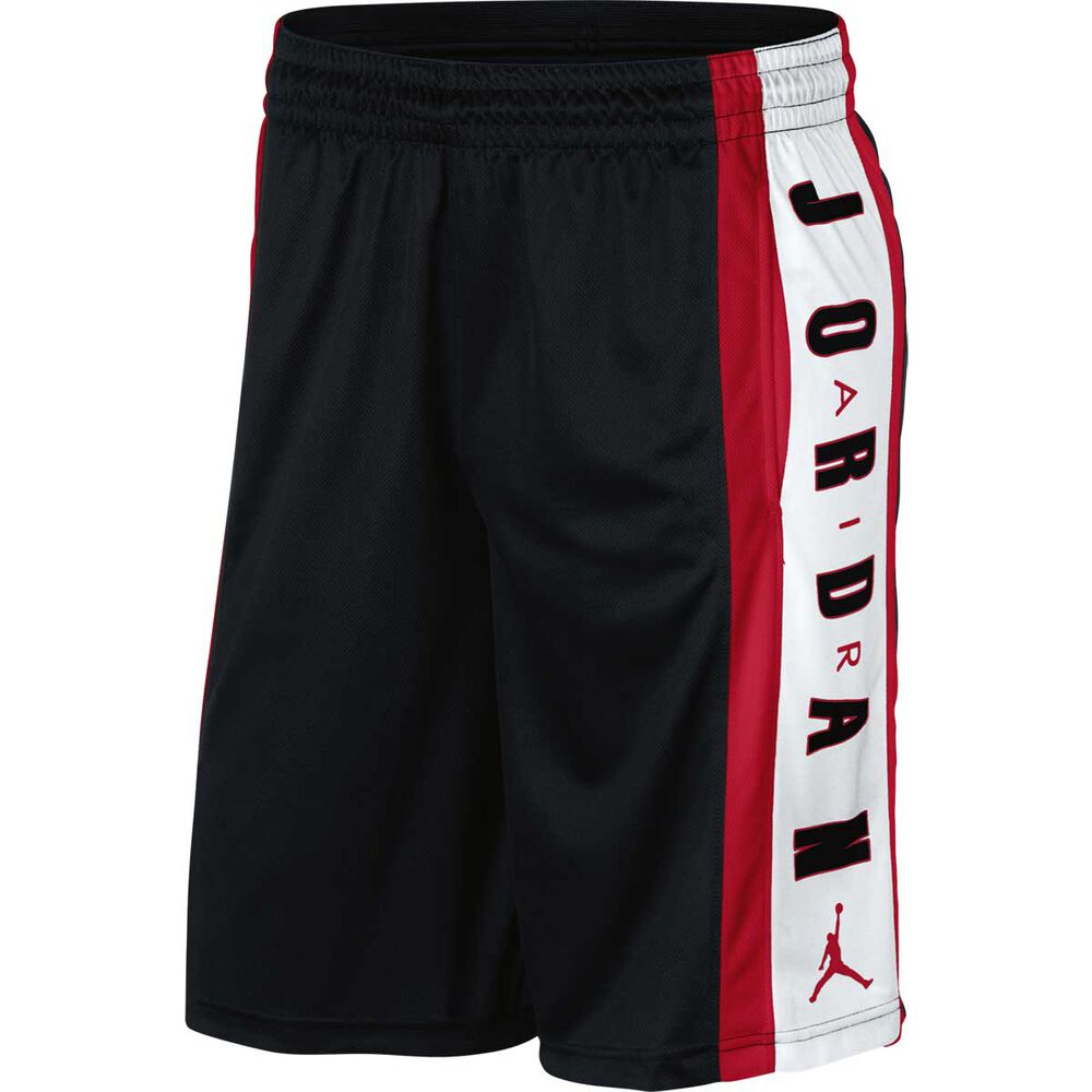 Nike Mens Jordan Rise Graphic Basketball Shorts Black   Red M ... e03a7d27a