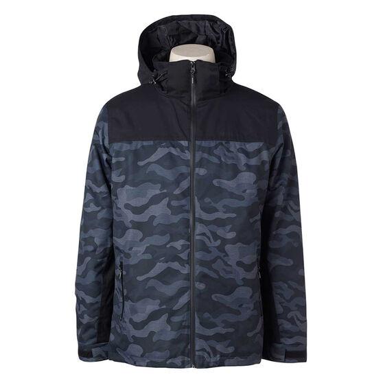 Elude Mens Journey Ski Jacket Black / Camo XL, Black / Camo, rebel_hi-res