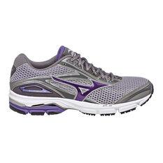 Mizuno Wave Legend 4 Womens Running Shoes Grey / Purple US 6, Grey / Purple, rebel_hi-res