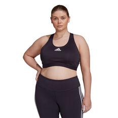 adidas Womens Don't Rest Alphaskin Padded Sports Bra Plus Black XL, Black, rebel_hi-res