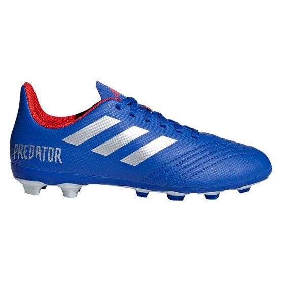adidas Predator 19.4 FXG Kids Football Boots, Blue / Silver, rebel_hi-res