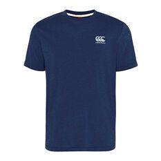 Canterbury Mens CCC Small Logo Tee Navy S, Navy, rebel_hi-res