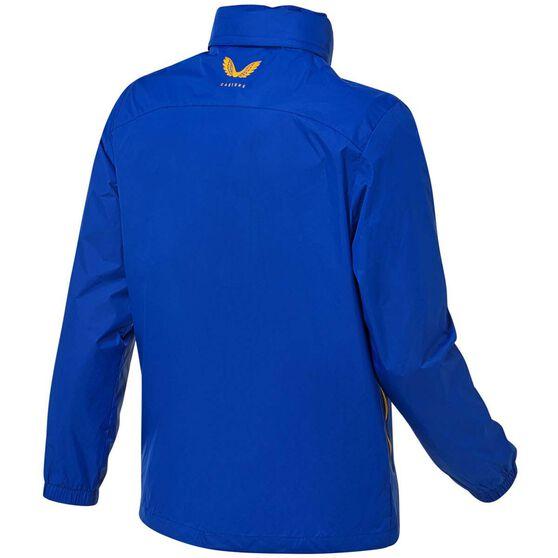 West Coast Eagles 2021 Mens Wet Weather Jacket, Blue, rebel_hi-res
