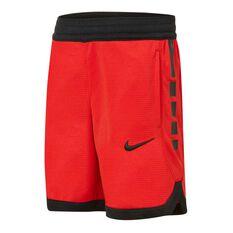 Nike Boys Elite Stripe Shorts Red / Black 4, Red / Black, rebel_hi-res
