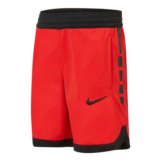 Nike Boys Elite Stripe Shorts Red / Black 6, Red / Black, rebel_hi-res