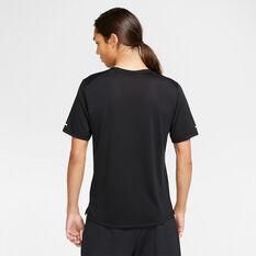 Nike Mens Dri-FIT Miller Wild Run Running Tee, Black, rebel_hi-res