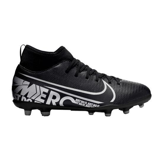 Nike Mercurial Superfly VII Club Kids Football Boots, Black / Grey, rebel_hi-res