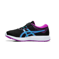 Asics Patriot 11 Kids Running Shoes Black / Purple US 11, Black / Purple, rebel_hi-res