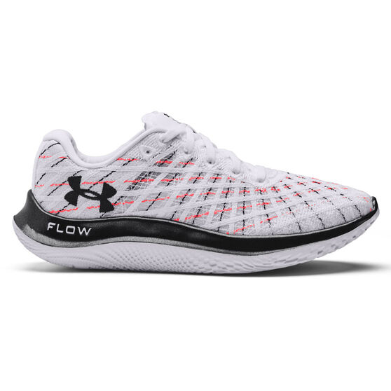 Under Armour Flow Velociti Wind Womens Running Shoes, White/Red, rebel_hi-res