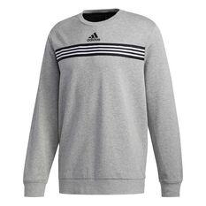 adidas Mens Post Game Sweatshirt Grey S, Grey, rebel_hi-res