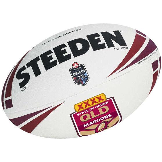 Steeden NRL QLD State Of Origin Replica Ball 2013, , rebel_hi-res
