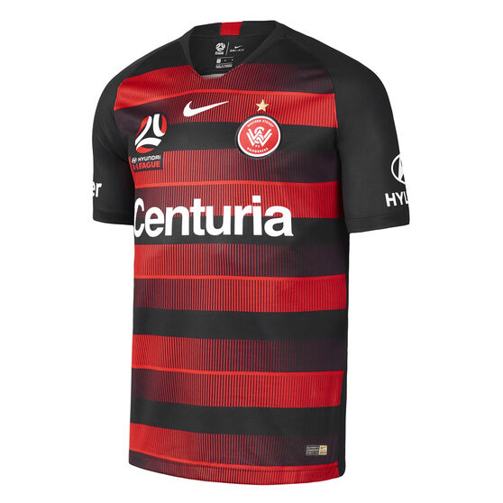 Western Sydney Wanderers 2018 / 19 Kids Home Jersey, Black / Red, rebel_hi-res