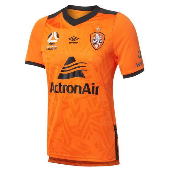 Brisbane Roar 2019/20 Mens Home Jersey, Orange, rebel_hi-res