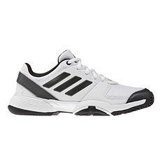 adidas Barricade Club Kids Tennis Shoes White / Black US 1, White / Black, rebel_hi-res