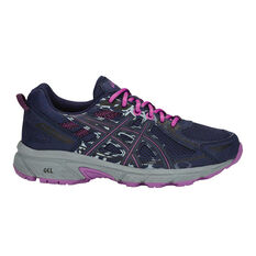 Asics Gel Venture 6 Kids Running Shoes Navy / Purple US 4, Navy / Purple, rebel_hi-res