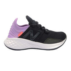 New Balance Fresh Foam Roav Kids Running Shoes Black / Purple US 4, Black / Purple, rebel_hi-res