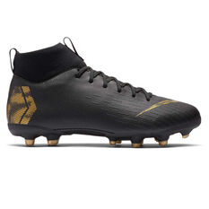 Nike Mercurial Superfly VI Academy Kids Football Boots Black / Gold US 1, Black / Gold, rebel_hi-res