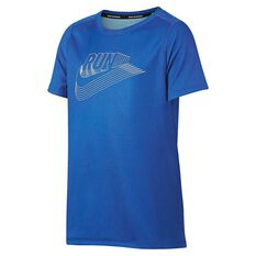 Nike Boys Dri-FIT Training Tee Royal / White XS, Royal / White, rebel_hi-res