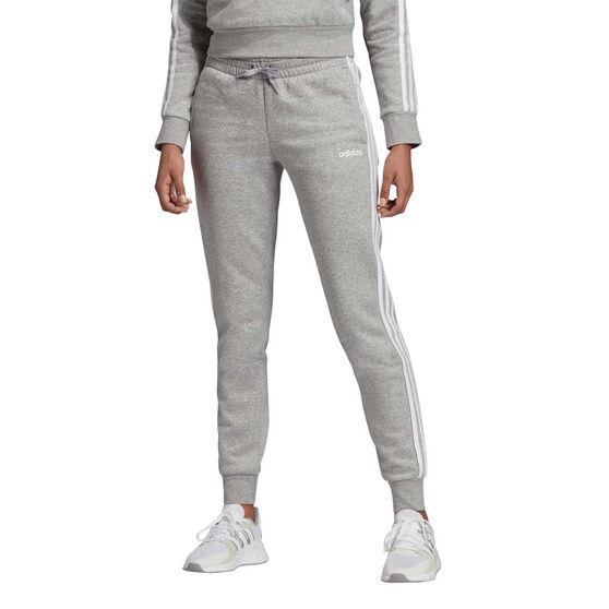 adidas Womens Essentials 3 Stripes Jogger Pants, Grey, rebel_hi-res