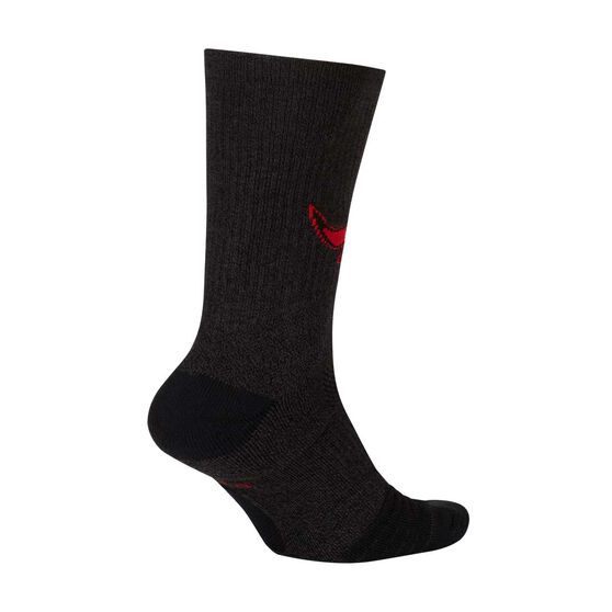 Nike Chicago Bulls 2019/20 Elite Crew Socks Black / Red XL, Black / Red, rebel_hi-res