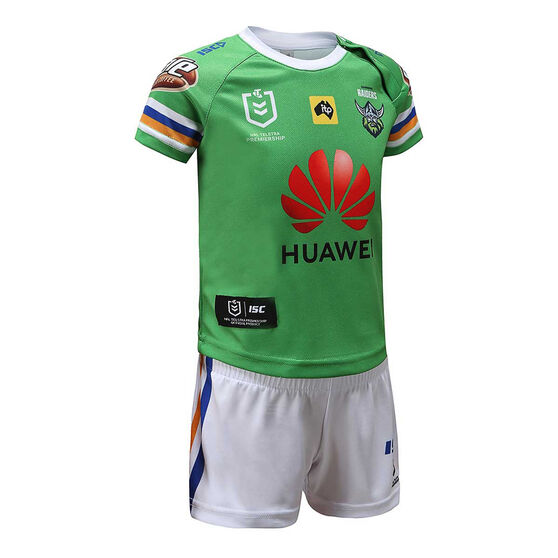 Canberra Raiders 2020 Infants Home Kit, Green, rebel_hi-res
