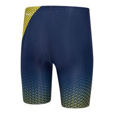 Speedo Boys Tokyo Olympics Replica Jammer Navy/Yellow 8, Navy/Yellow, rebel_hi-res