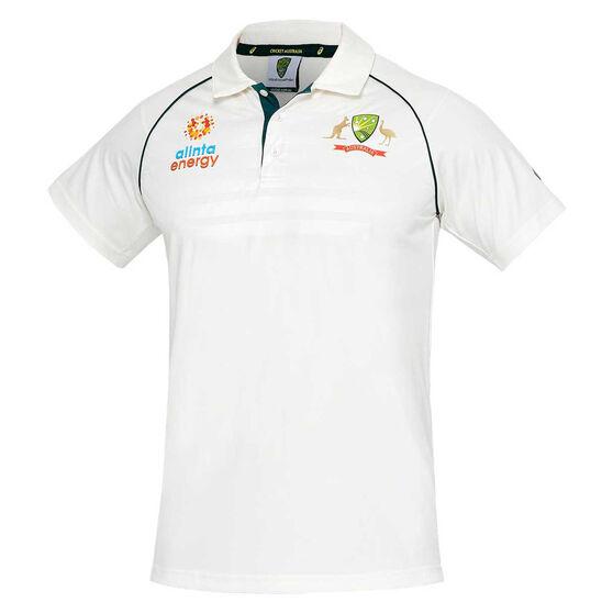 Cricket Australia 2020/21 Mens Test Replica Shirt, White, rebel_hi-res